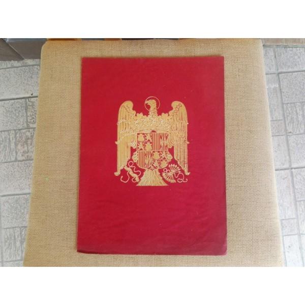 Френска брошура (покана)от плат и герб със златен прах - 1939 г.