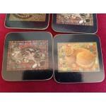 Антични английски подложки за чаши от корк,находка - 2349