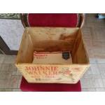 Двустранно щампирана дървена кутия за Кореком Бургас от далечната 1968 година - 2353