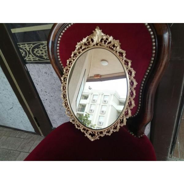 Малко медно отливано огледало - 2301