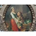 Картина върху фазер - барокова дървена рамка - 1524
