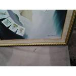 Авторска картинна масло, прекрасна рамка - 1434