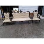 Уникален бароков диван тройка с два фотьойла - 1435