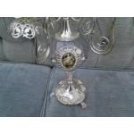 Изящен сребърен свещник. Произведение на изкуството - 1355