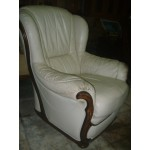Кожено кресло, бяло - Д032